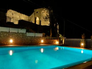 pool in the night