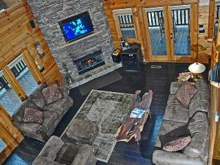 Overhead view of living area