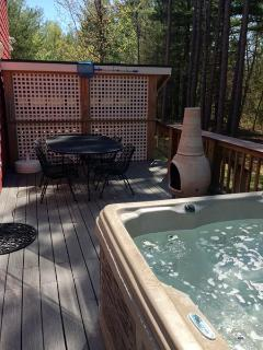 Hot tub and dinning table