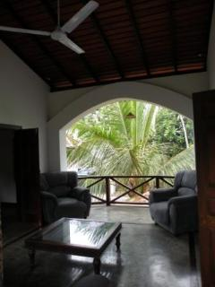 Upstairs outdoor lounge