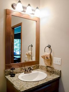 Bathrooms with granite counter tops