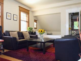 Loft Suite - Living Area & Bed Cove