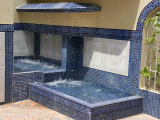 Spanish fountains welcome you as you enter the Las Terrazas courtyard