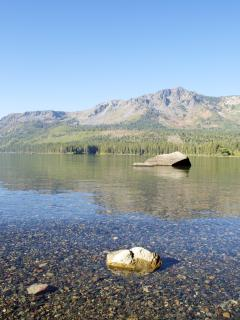 The serenity of Fallen Leaf Lake is a short drive away.