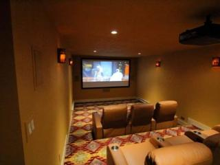 Timber Lodge Home Theater Room
