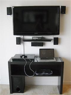 TV + sound system