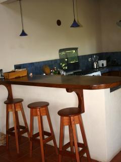 enjoy a drink at the bar