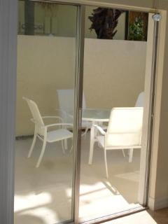 Patios with all units- easy access in and out...