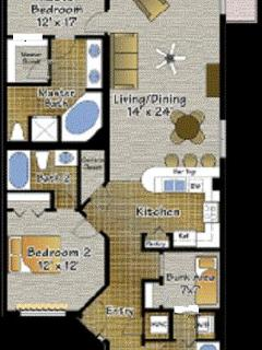 floor plan ours is configured  a little different in master bdrm