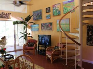 New 40' TV and Oils by Local Artists