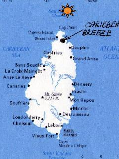 See map for Caribbean Breeze Location
