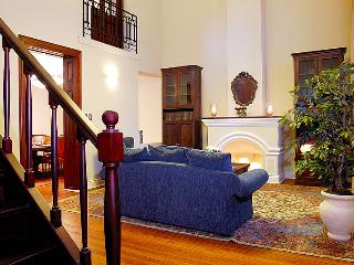 View from the entry foyer to the living room as you enter the house