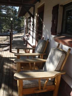 Sit on the front porch and take in the awesome views of Long's Peak and the Rocky Mountains