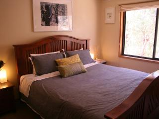 King bedroom with bush views to Mt William Range