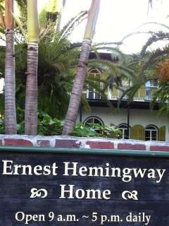 ERNEST HEMINGWAY HOME, FEW  BLOCKS AWAY