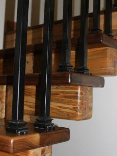 Stair Treads - Solid Walnut with Ambrosia Maple