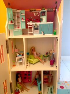 Huge Doll House with dolls and furniture!