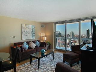 Large open living room area with modern furniture and great views