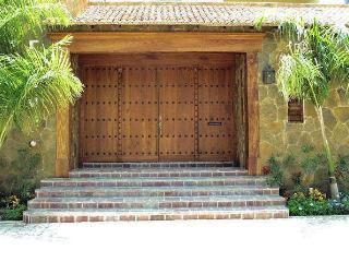 Entrance to Sueno del Mar, a condominium complex with 22 units.