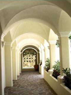 Entryway facing the elevators and administrative offices