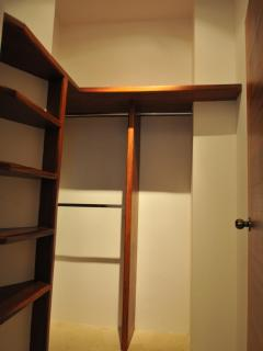 Roomy walk-in closets.