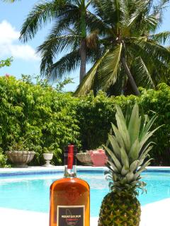 Barbados rum and Pineapple Lodge