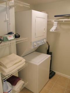 Laundry room in the suite