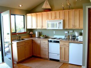 Modern kitchen fully equipped with all necessities for at home cooking.