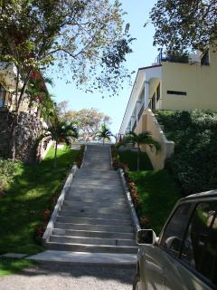 Stairs from parking lot to our condo...NOT suitable for those who may not be physically able, sorry!