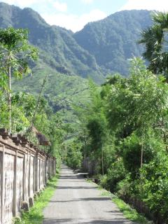 the road to our villa, through the village