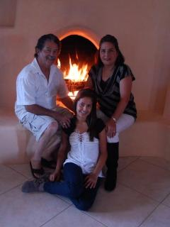 Your Hosts at Villa Encantada ~~ Family Photo of Glenn, Patricia and Gloriana