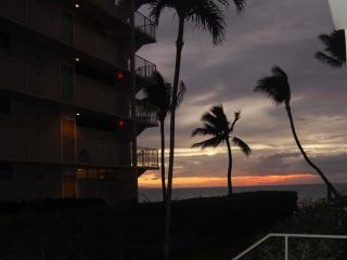 This spectacular Sunset photo was taken from the sidewalk beside our lanai