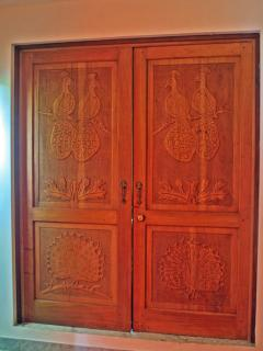 Fine Hand Carved Doors throughout Villa Encantada