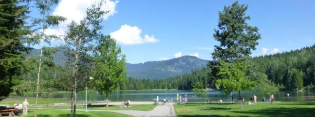 Lots of lakes and biking trails that go for miles around the town.
