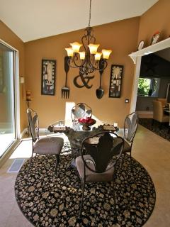 Casual dining with garden views