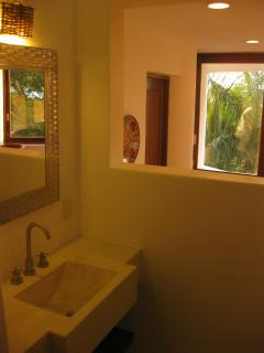Casita Bath (Shower is off to Right) with View Over Livingroom