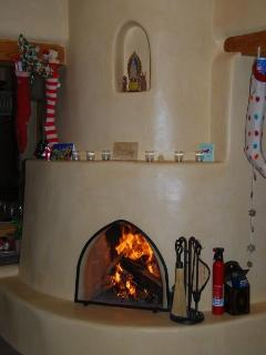 Kiva Fireplace in Livingroom