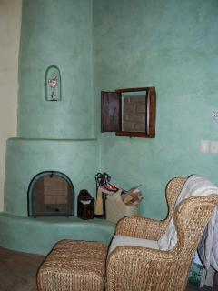 Master Bedroom Kiva Fireplace