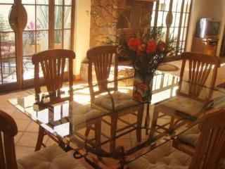 Dining room with glass table