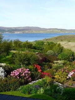 View from upstairs down to the sound of Raasay
