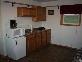 Kitchen that fits your on the go vacation or handles a quiet relaxing stay