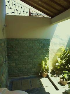 indoor / outdoor bathroom