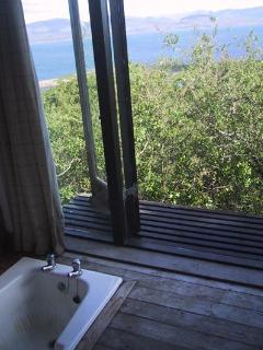 sunken bath with balcony