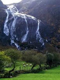 Glen Inchiquin magnificent waterfall