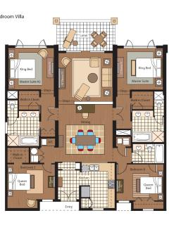 Villa 104 floor plan