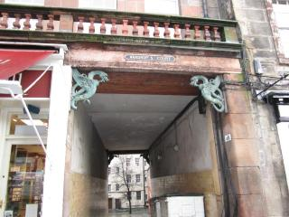 Entrance to the courtyard off the Royal Mile