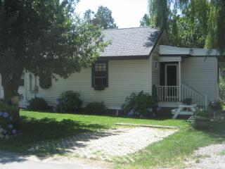 Cottage Side View, Showing BBQ, Picnic Table 1 Parking Place, (2nd is in Front of Cottage)