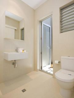 With its own ensuite and walk in robe