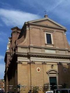 Masterwork of baroque architect Borromini where bricks undulate like cloth, Sant'Andrea delle Fratte