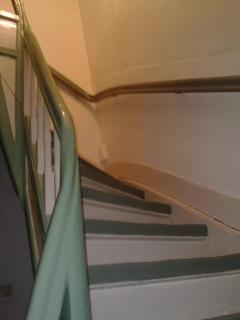 the famous traditional staircase: quite nice actually!